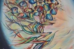 Ciarliera intimità – l'albero conversa col vento che sparge la sua linfa, colorata e preziosa,  nell'universo