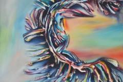 armonica ed accattivante giostra dagli iridescenti colori, metafora di un primitivo credo