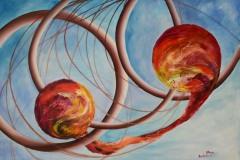 Due embrioni uniti da un cordone ombelicale, creati dall'amore infinito per la vita