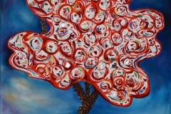 un albero, nella sua potenza emotiva, si erge nel creato per effondere amore