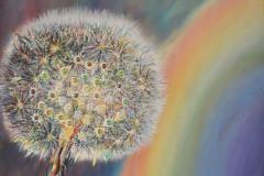 Il soffione, rotondo e puro, nel suo leggiadro movimento crea un melodioso arcobaleno