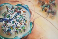 Il ramo dell'albero comunica un senso primario di un viaggio coinvolgente ed emozionante della vita