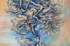 un maestoso albero, le cui fronde cristalline si animano ed  effondono doni di affetto e calore